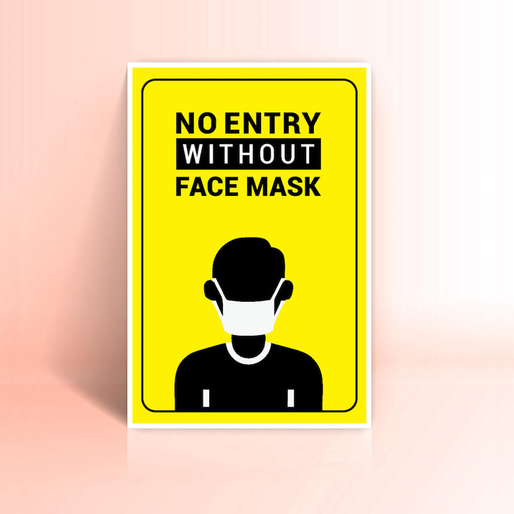 No Entry without face mask